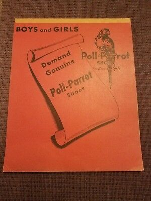 Vintage 1950-60's Unused Poll-Parrot Shoes Notepad NOS