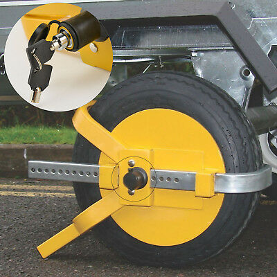 Car Van Wheel Heavy Duty Clamp Safety Lock For Caravans Trailers Trucks Security