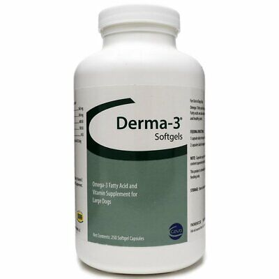 Derma-3 Softgel Capsules for Large Dogs (250 count)