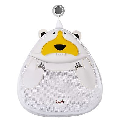 3 Sprouts 100% Neoprene Baby Bath Storage - White Polar Bear