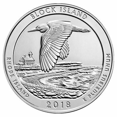 2018 5 oz Silver ATB Block Island Wildlife Refuge, RI - With NEW Air-Tite Holder