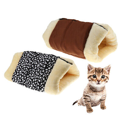 2-in-1 Cat Pet Bed Tunnel Tube Indoor Cushion Mat Pad For Dog Puppy Kitten Kitty