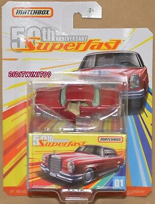 Matchbox 2019 50Th Anniversary Superfast '62 Mercedes 220Se