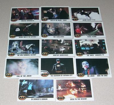 18 Trading Cards from Batman-The Movie Collection (1989)