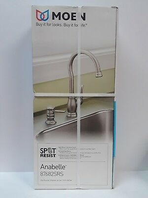 NEW Moen Anabelle #87682SRS Stainless 1-Handle High Arc Single Mount Bar Faucet