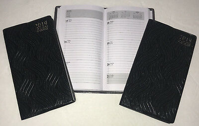 NEW 2019 Pocket Planner Weekly Signature Black Textured Finish Calendar