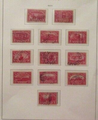 1913 U S# Q1-12, Parcel Postr Stamp Series of 12v, all Used Mounted on page