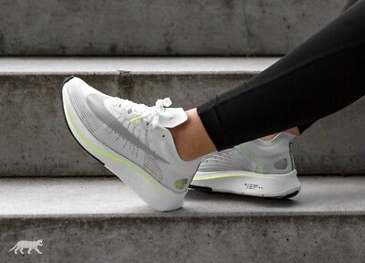 8b35c39bcc7 NIKE ZOOM FLY SP Womens Running Shoe White Grey Green AJ8229-107 NEW ...