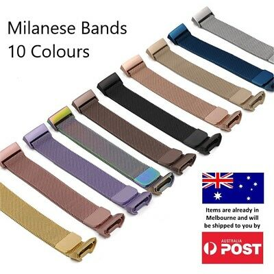 Milanese Band Fitbit Charge 3 Strap Replacement Watch Stainless Steel Magnet