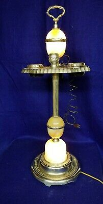 Vintage Art Deco Smoking Stand, Lighted with Electric Coil Lighter