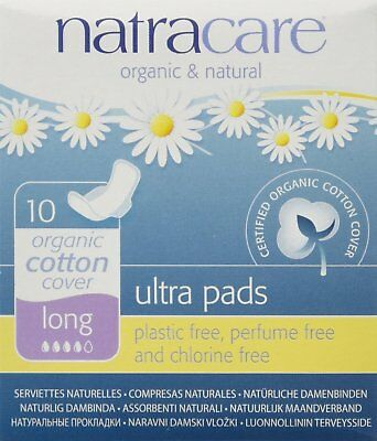 Natural Pads Ultra Long with Wings, Natracare, 10 piece