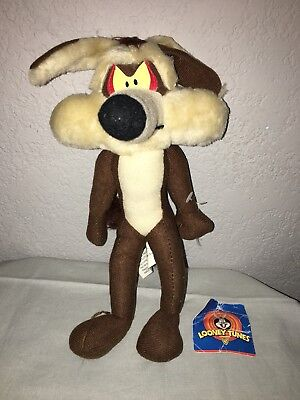 1997 Vintage LOONEY TUNES WILE E. COYOTE ACE PLUSH TOY