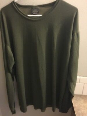 Redhead Crew Shirt Mens Size XL Hunter Green Outdoor Wear