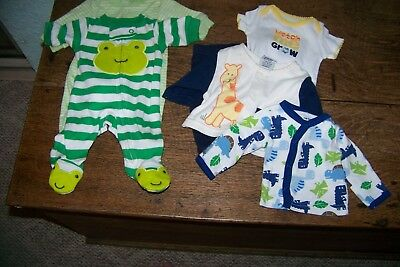 lot of baby boy clothes preemie-newborn-pants, tops , sleepers