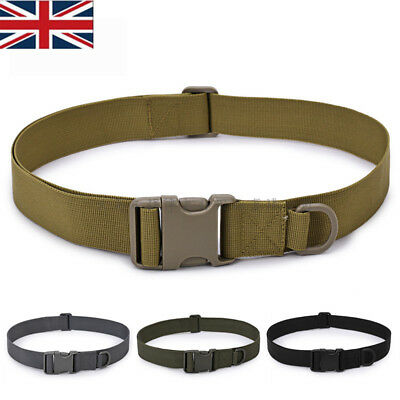 Quick Release Buckle Military Trouser BELT Army Tactical Canvas Webbing New