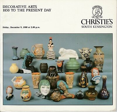 Christie's South Kensington Vintage Catalog Auction 1988 Decorative Arts 1850-