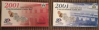 2001 P & D United States Mint Uncirculated Coin Set