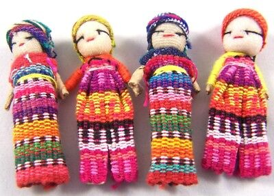 Handmade Guatemala Worry Dolls Silly Billy Doll Fair Trade Trouble Anxiety Sleep