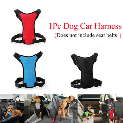 Soft Nylon Air Mesh Puppy Dog Car Harness Seat belt Clip Safety Lead For Dogs