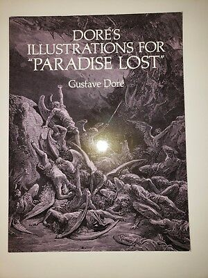 """Dore's Illustrations For """"Paradise Lost,"""" Gustage Dore', Dover Softcover 1993"""