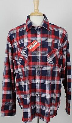 44f9cbbaadf0 NEW VINTAGE McGregor Bagpiper Plaid Long Sleeve Flannel Shirt Mens XL NWT  NOS