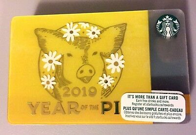 Starbucks 2019 Lunar New Year Of The Pig Gift Card New