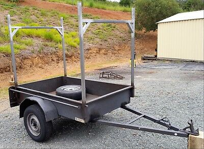 Nathan Trailers 6x4 Box Trailer Tall Ladder Racks Spare Tyre Excellent Condition