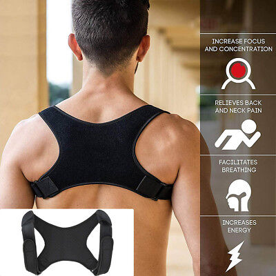 Posture Corrector Fracture Support Back Shoulder Correction Brace Belt Strap UK
