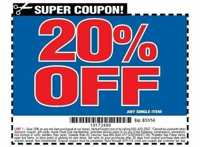 20 Off Harbor Freight Any Single Item 1 45 Picclick