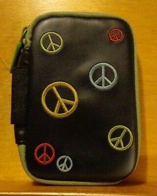 NEW Accu-Chek AVIVA BLOOD GLUCOSE METER MONITOR DELUXE CASE_COLORFUL PEACE SIGNS