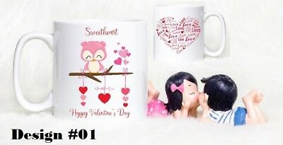 Personalised Valentines Day Mugs - Cute Owl Mugs