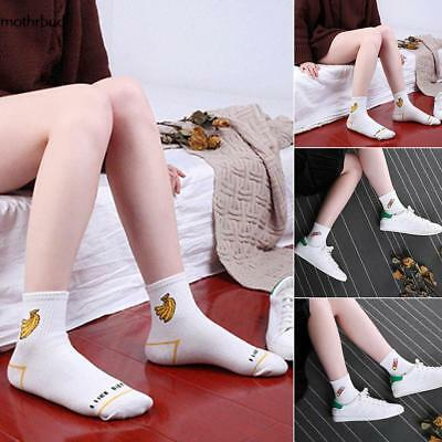 Women Girls Casual Non Slip Breathable Comfortable Middle Tube Socks M5BD
