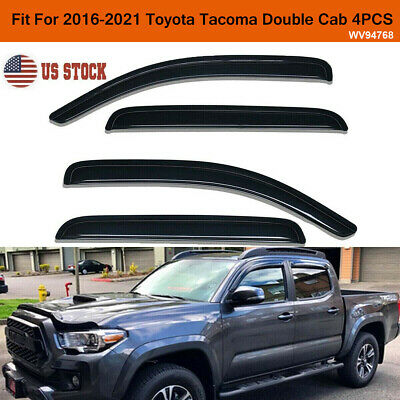 Window Visor Rain Guard Wind Deflector for 2016-2019 Toyota Tacoma Double Cab
