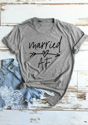 ddc1cc13 Married AF Arrow T-Shirt Tee Women Funny Graphic Tumblr Tshirt Tops Summer  Tee
