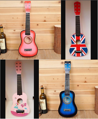 21 Inch Acoustic Guitar Portable Wooden Guitar for Children Kids Beginners UK