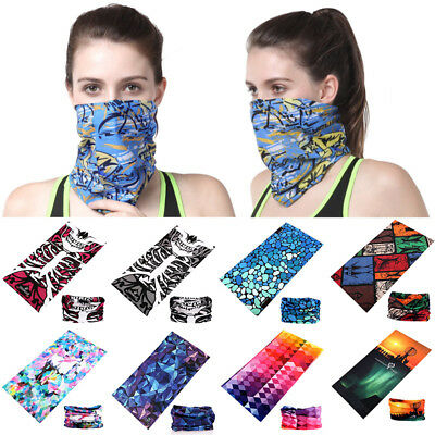 Unisex Magic Scarf Head Mask Cycling Snood Men Tube Face Headwear Multicolor