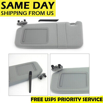 NEW SUN VISOR LEFT DRIVER SIDE GRAY for 2007-2011 Toyota Camry WITHOUT  SUNROOF 975eb39d8f1