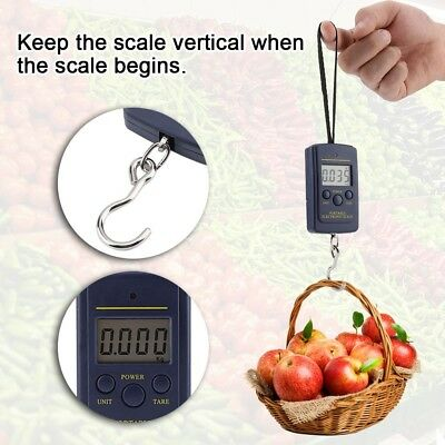 40Kg/10g Electronic Portable LCD Digital Weight Scale Hook Fish Hanging Luggage