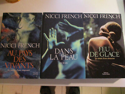Lot 3 livres Nicci French ( grand format)