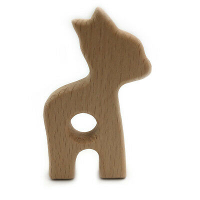 Eco-Friendly Cute Alpaca Wooden Teether Safe Baby Teether Toys Infant Toys NB