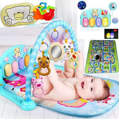 2 SIDE KIDS GYM Music CRAWLING EDUCATIONAL GAME BABY PLAY MAT SOFT FOAM CARPET