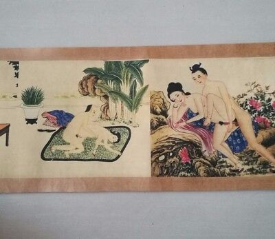 Nice Collectible Vintage Old Painting Sexy Culture Fine wonderful Roll