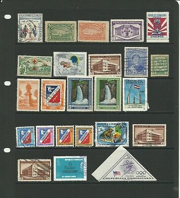 Selection of stamps from Dominican Republic