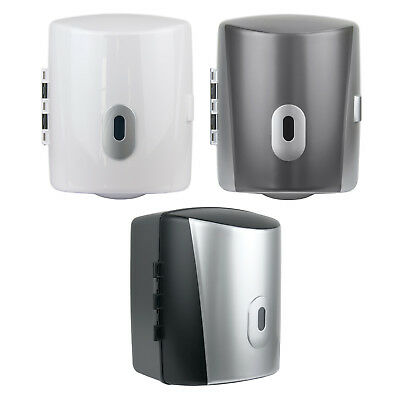 Wall Mounted Paper Towel Dispenser – Centre Feed Lockable Large Blue Roll Holder