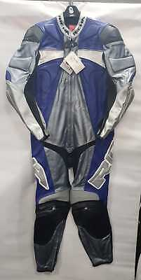Richa FORCE 1- Blue Leather suit 1 Piece sports Motorcycle/Motorbike Racing suit