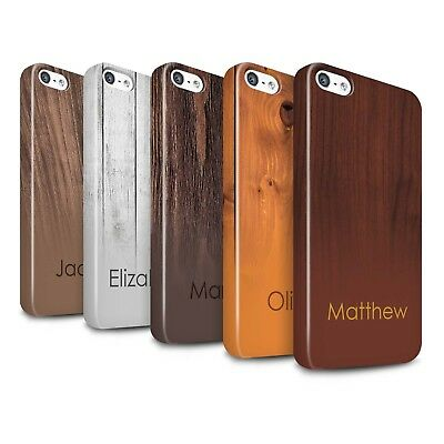 Personalised Custom Wood Grain Effect Gloss Case for Apple iPhone 5/5S/Initial