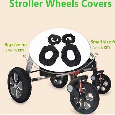 Useful Black Stroller Wheel Cover Pram Protector Anti-dirty Case Wheel Care