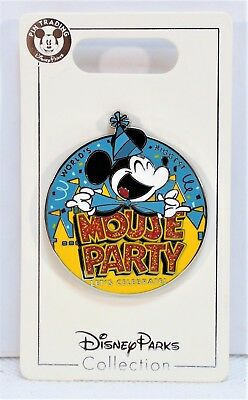 Disney Worlds Biggest Mickey Mouse 90th Birthday Party Let Celebrate Pin NEW
