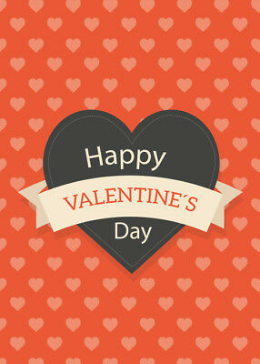 Happy Valentines Day Greeting Cards Gift Postcards with Envelope, Front Only