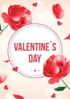 Valentine's Day Greeting Cards, Romantic Love Gift Postcard with Envelope